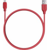 Кабель Aukey Braided Nylon microUSB to USB-A 1.2m, Red (CB-AM1)