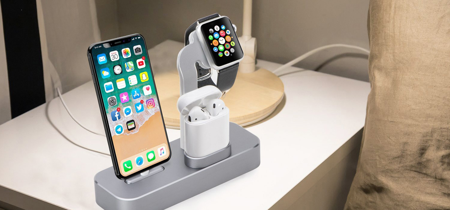 Док-станция COTEetCI для Apple Watch/iPhone/AirPod Base19