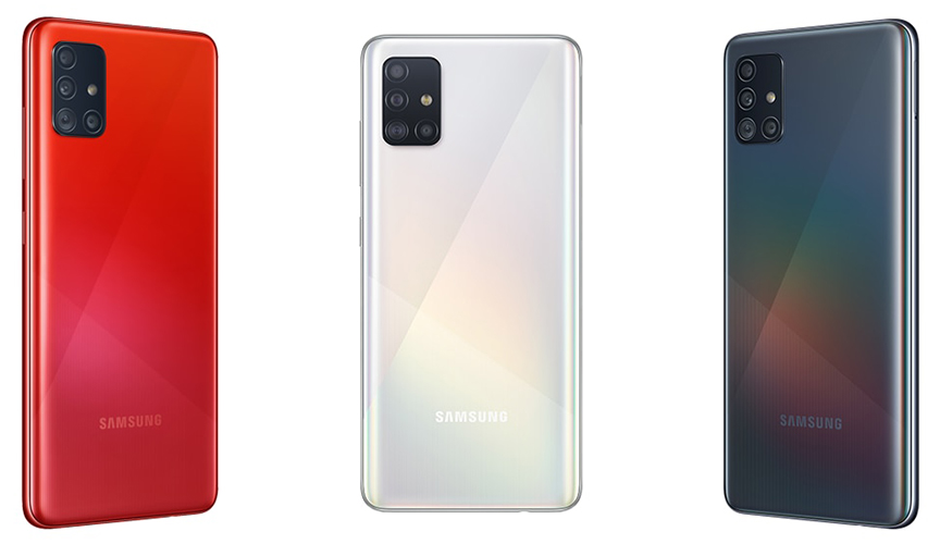 Смартфон Samsung Galaxy A51 64Gb Белый (SM-A515F)